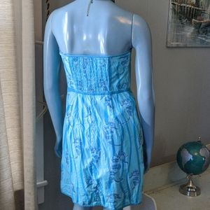 Lilly Pulitzer Dresses - Lilly Pulitzer Sea Horse Strapless Dress